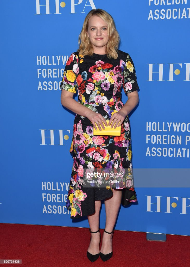 Actress Elisabeth Moss arrives at the Hollywood Foreign Press Association's Grants Banquet at the Beverly Wilshire Four Seasons Hotel on August 2, 2017 in Beverly Hills, California.