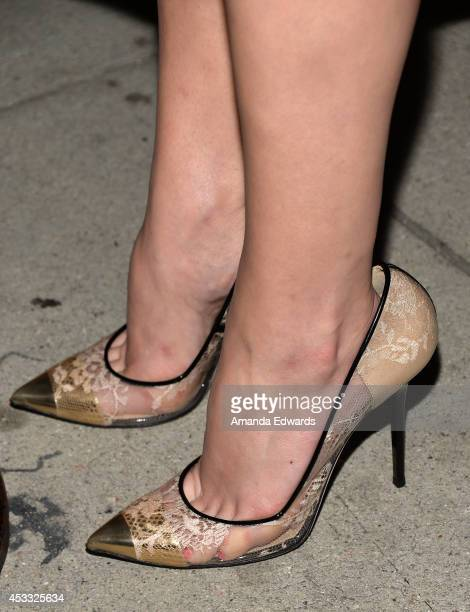 Actress Elisabeth Moss arrives at the Los Angeles premiere of 'The One I Love' at the Vista Theatre on August 7 2014 in Los Angeles California