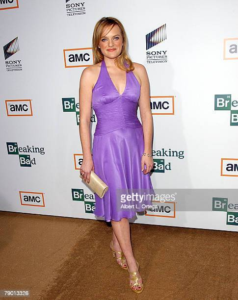 Actress Elisabeth Moss arrives at the Premiere Screening of AMC's new Sony Pictures' Television drama Breaking Bad held on January 15 2008 at The...
