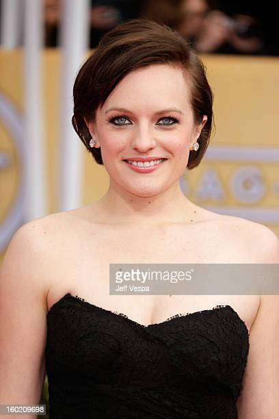 Actress Elisabeth Moss arrives at the19th Annual Screen Actors Guild Awards held at The Shrine Auditorium on January 27, 2013 in Los Angeles,...
