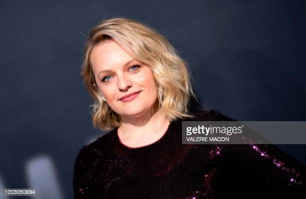 US actress Elisabeth Moss arrives for The Invisible Man premiere at the TCL Chinese theatre in Hollywood on February 24 2020