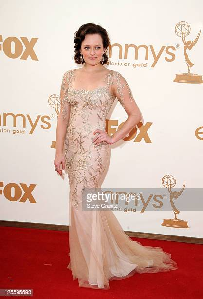 Actress Elisabeth Moss arrives to the 63rd Primetime Emmy Awards at the Nokia Theatre LA Live on September 18 2011 in Los Angeles United States