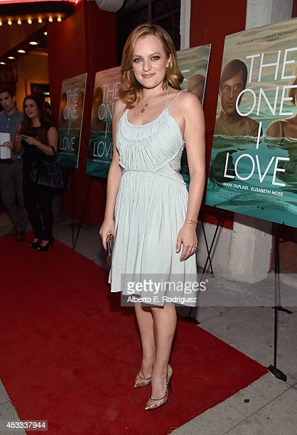 Actress Elisabeth Moss arrives to the premiere of RADIUSTWC's The One I Love at the Vista Theatre on August 7 2014 in Los Angeles California