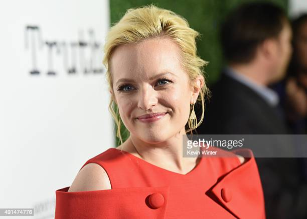 Actress Elisabeth Moss attends an industry screening of Sony Pictures Classics' 'Truth' at Samuel Goldwyn Theater on October 5 2015 in Beverly Hills...