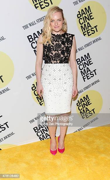 Actress Elisabeth Moss attends Queen Of Earth premiere at BAMcinemaFest 2015 at BAM Peter Jay Sharp Building on June 22 2015 in New York City