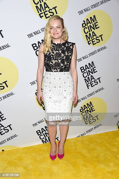 Actress Elisabeth Moss attends Queen Of Earth premiere during BAMcinemaFest 2015 at BAM Peter Jay Sharp Building on June 22 2015 in New York City
