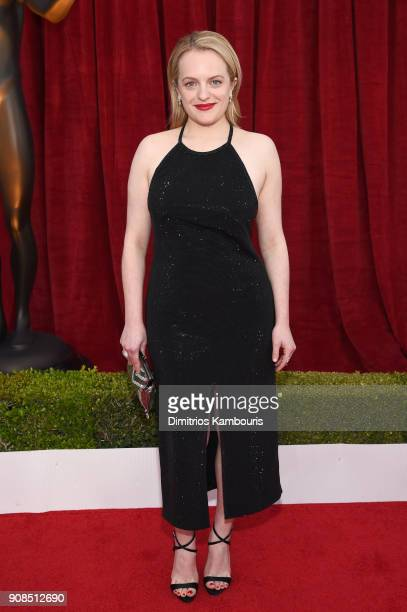 Actress Elisabeth Moss attends the 24th Annual Screen Actors Guild Awards at The Shrine Auditorium on January 21 2018 in Los Angeles California...