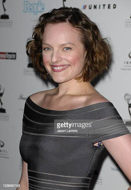 Actress Elisabeth Moss attends the 62nd primetime Emmy Awards performers nominee reception at Pacific Design Center on August 27 2010 in West...