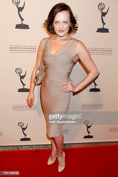 Actress Elisabeth Moss attends The Academy of Television Arts Sciences' Writers Peer Group Reception Celebrating the 63rd Primetime Emmy Awards at...
