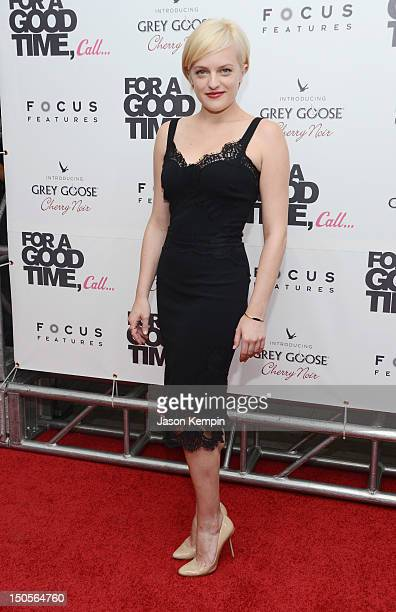 Actress Elisabeth Moss attends the For A Good Time Call premiere at Regal Union Square on August 21 2012 in New York City