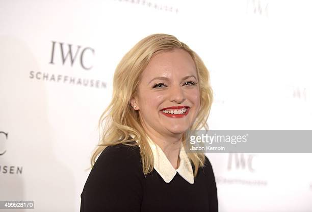 Actress Elisabeth Moss attends the IWC Schaffhausen celebration for the Rodeo Drive Grand Opening at IWC Shaffhausen on December 1 2015 in Beverly...