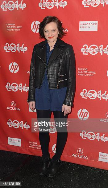 Actress Elisabeth Moss attends the 'Listen Up Philip' Premiere during the 2014 Sundance Film Festival at Library Center Theater on January 20 2014 in...
