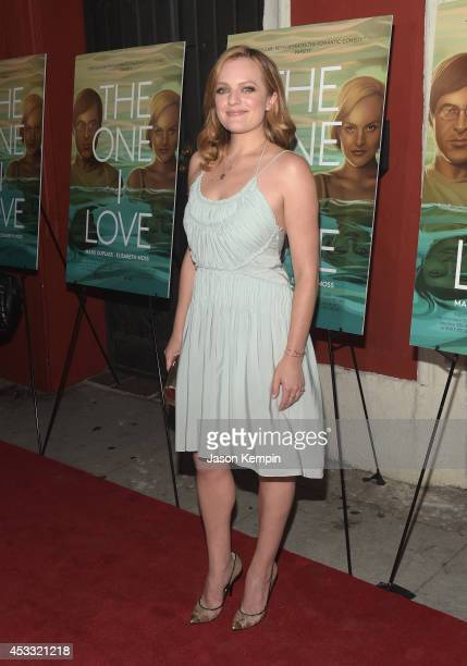 Actress Elisabeth Moss attends the premiere of RADiUSTWC's The One I Love at the Vista Theatre on August 7 2014 in Los Angeles California