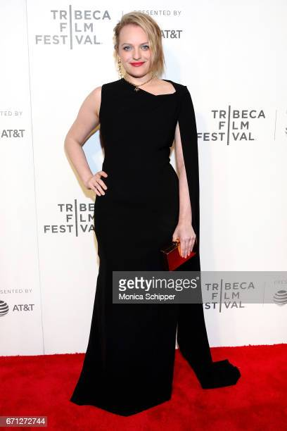 Actress Elisabeth Moss attends the premiere of 'The Handmaid's Tale' during Tribeca Film Festival at BMCC Tribeca PAC on April 21 2017 in New York...