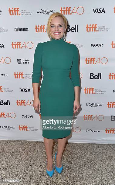 Actress Elisabeth Moss attends the 'Truth' premiere during the 2015 Toronto International Film Festival at the Winter Garden Theatre on September 12...
