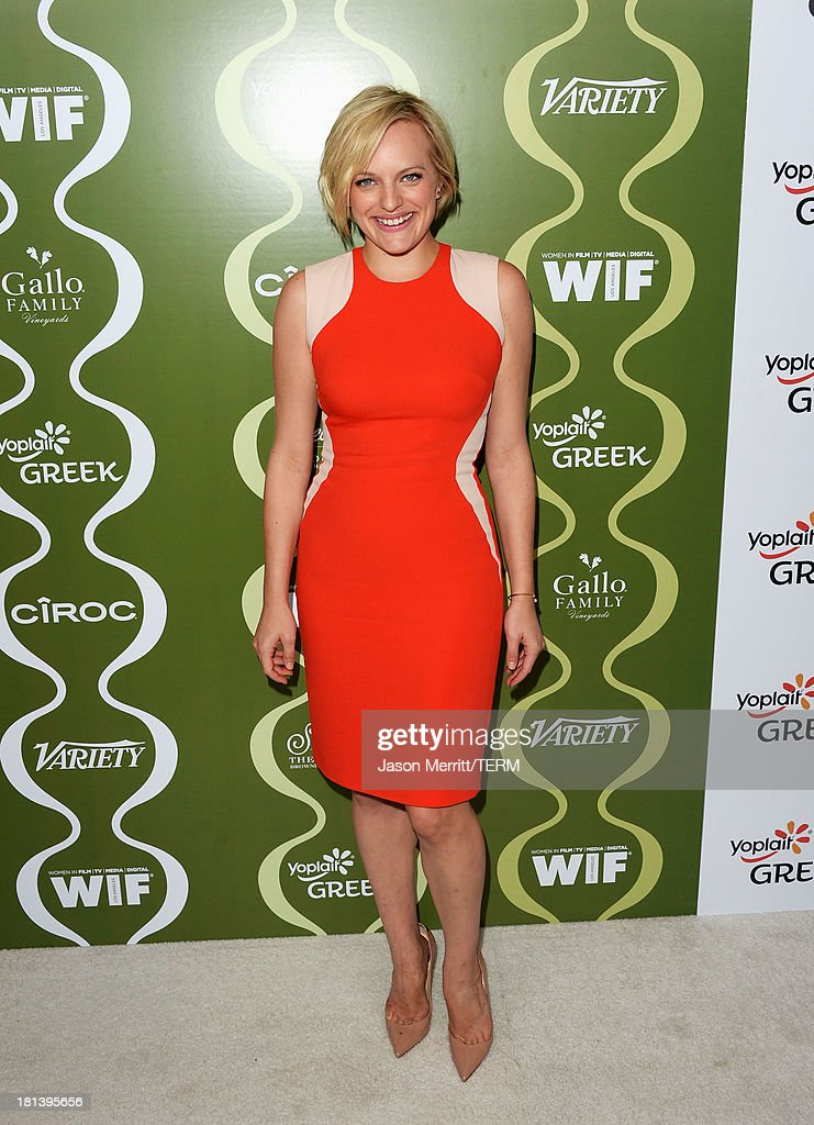 Actress Elisabeth Moss attends Variety & Women In Film Pre-Emmy Event presented by Yoplait Greek at Scarpetta on September 20, 2013 in Beverly Hills, California.