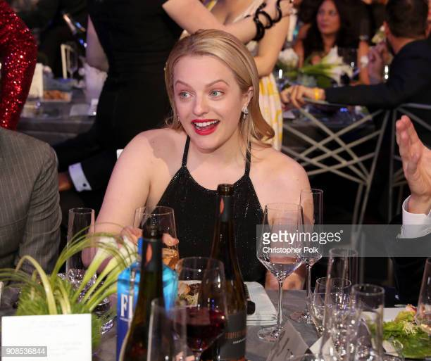 Actress Elisabeth Moss during the 24th Annual Screen Actors Guild Awards at The Shrine Auditorium on January 21 2018 in Los Angeles California...