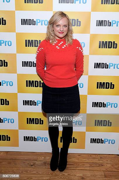Actress Elisabeth Moss in The IMDb Studio In Park City Utah Day Four on January 25 2016 in Park City Utah