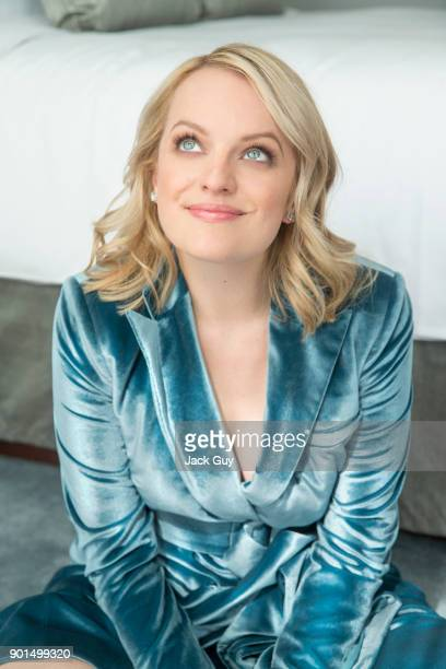 Actress Elisabeth Moss is photographed for Emmy Magazine on June 5 2017 in Los Angeles California PUBLISHED IMAGE