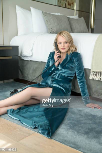 Actress Elisabeth Moss is photographed for Emmy Magazine on June 5, 2017 in Los Angeles, California. PUBLISHED IMAGE.