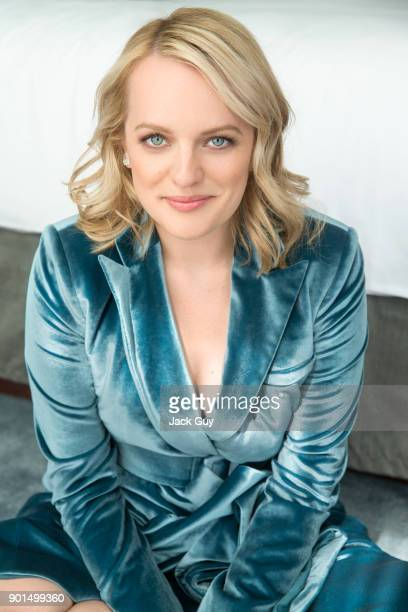 Actress Elisabeth Moss is photographed for Emmy Magazine on June 5 2017 in Los Angeles California COVER IMAGE