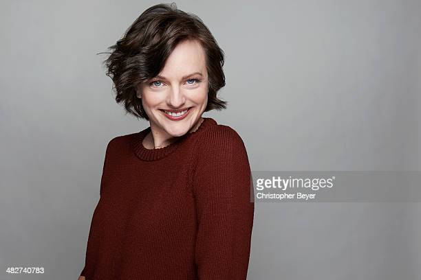 Actress Elisabeth Moss is photographed for Entertainment Weekly Magazine on January 25 2014 in Park City Utah