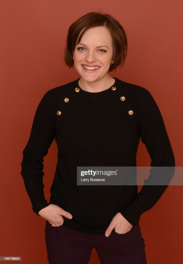 Actress Elisabeth Moss poses for a portrait during the 2013 Sundance Film Festival at the Getty Images Portrait Studio at Village at the Lift on January 19, 2013 in Park City, Utah.