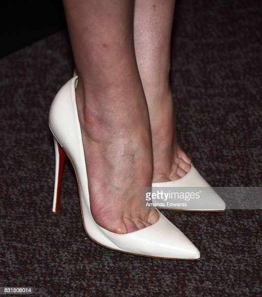 Actress Elisabeth Moss shoe detail arrives at the FYC Event for Hulu's 'The Handmaid's Tale' at the DGA Theater on August 14 2017 in Los Angeles...