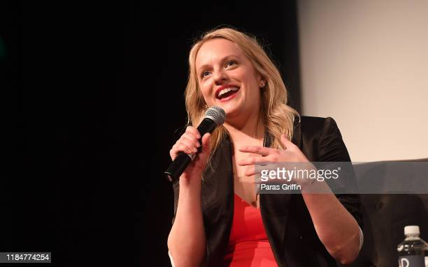 """Actress Elisabeth Moss speaks onstage during the """"Her Smell"""" screening and Q&A at the 22nd SCAD Savannah Film Festival on October 31, 2019 at SCAD..."""
