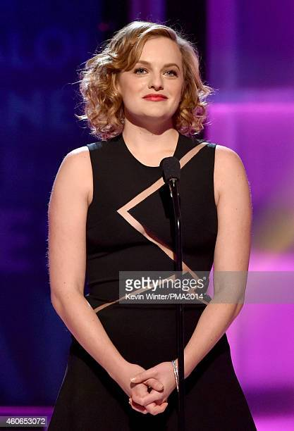 Actress Elisabeth Moss speaks onstage during the PEOPLE Magazine Awards at The Beverly Hilton Hotel on December 18 2014 in Beverly Hills California