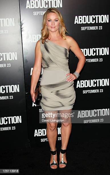 Actress Elisabeth Röhm arrives at the premiere of Lionsgate Films' Abduction held at Grauman's Chinese Theatre on September 15 2011 in Hollywood...