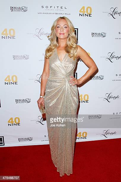 Actress Elisabeth Röhm attends the Beverly Hills Lifestyle Academy Awards Issue Party at Sofitel Hotel on February 27 2014 in Los Angeles California