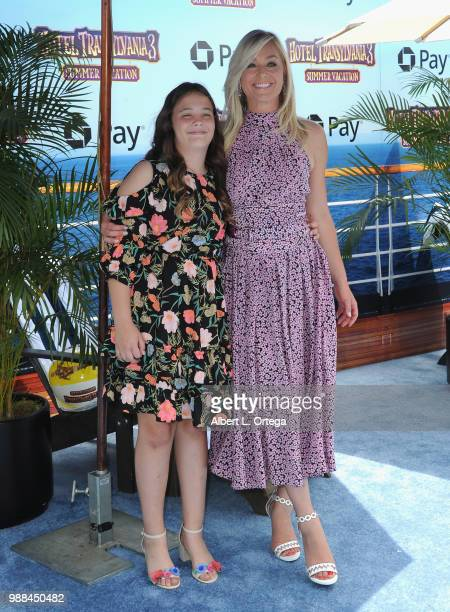 Actress Elisabeth Rohm and daughter Easton August Anthony Wooster arrive for Columbia Pictures And Sony Pictures Animation's World Premiere Of 'Hotel...