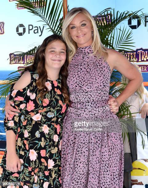 Actress Elisabeth Rohm and daughter Easton August Anthony Wooster attend Columbia Pictures and Sony Pictures Animation's World Premiere of 'Hotel...