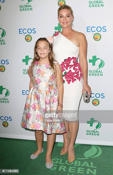 Actress Elisabeth Rohm and Easton August Anthony Wooster attend the Global Green 20th Anniversary Awards on September 29 2016 in Los Angeles...
