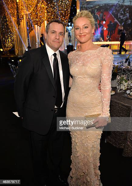 Actress Elisabeth Rohm and guest attend the 20th Annual Screen Actors Guild Awards at The Shrine Auditorium on January 18 2014 in Los Angeles...