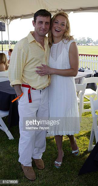 Actress Elisabeth Rohm and her boyfriend MSNBC anchor Dan Abrams attend the first weekend of the 2004 MercedesBenz Polo Challenge on July 17 2004 at...