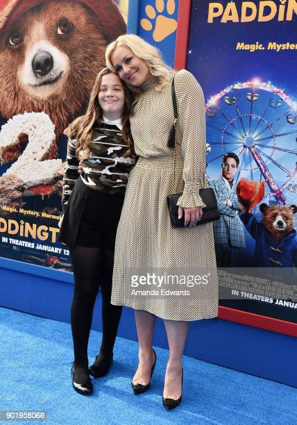 Actress Elisabeth Rohm and her daughter Easton August Anthony Wooster arrive at the premiere of Warner Bros Pictures' 'Paddington 2' at the Regency...