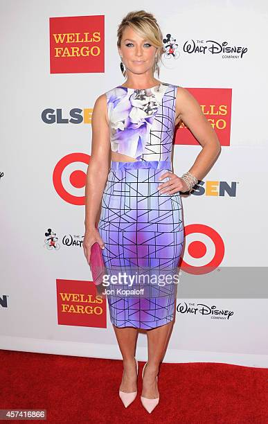 Actress Elisabeth Rohm arrives at the 10th Annual GLSEN Respect Awards at Regent Beverly Wilshire Hotel on October 17 2014 in Beverly Hills California
