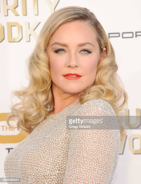 Actress Elisabeth Rohm arrives at the 19th Annual Critics' Choice Movie Awards at Barker Hangar on January 16 2014 in Santa Monica California