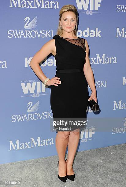 Actress Elisabeth Rohm arrives at the 2013 Women In Film's Crystal Lucy Awards at The Beverly Hilton Hotel on June 12 2013 in Beverly Hills California