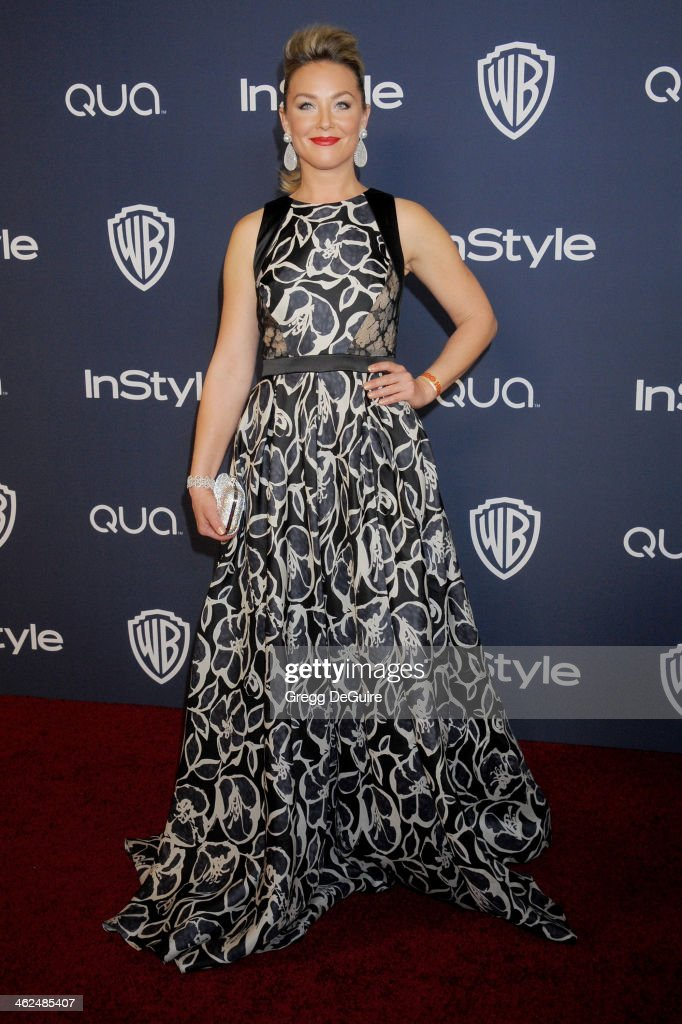 Actress Elisabeth Rohm arrives at the 2014 InStyle And Warner Bros. 71st Annual Golden Globe Awards post-party at The Beverly Hilton Hotel on January 12, 2014 in Beverly Hills, California.
