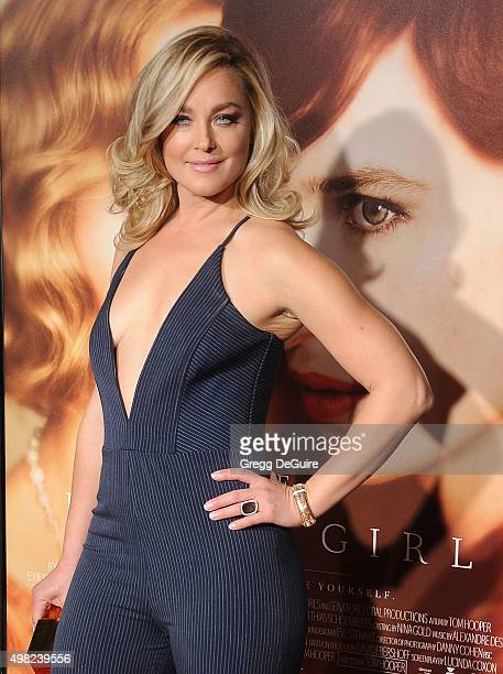 Actress Elisabeth Rohm arrives at the premiere of Focus Features' The Danish Girl at Westwood Village Theatre on November 21 2015 in Westwood...