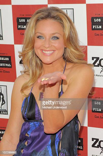 Actress Elisabeth Rohm arrives at the screening of Paramount Pictures' Waiting For Superman held at Regal Cinemas LA Live Stadium 14 on June 21 2010...