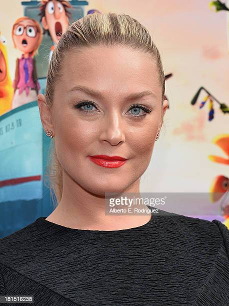 Actress Elisabeth Rohm arrives to the premiere of Columbia Pictures and Sony Pictures Animation's Cloudy With A Chance of Meatballs 2 at the Regency...