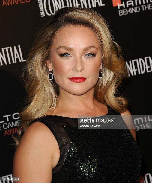 Actress Elisabeth Rohm attends the 7th annual Hamilton Behind The Camera Awards at The Wilshire Ebell Theatre on November 10 2013 in Los Angeles...