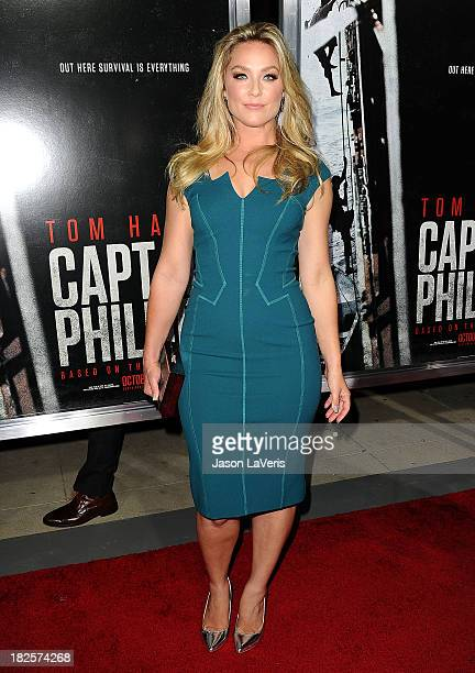 Actress Elisabeth Rohm attends the premiere of 'Captain Phillips' at the Academy of Motion Picture Arts and Sciences on September 30 2013 in Beverly...