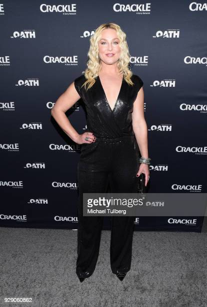 Actress Elisabeth Rohm attends the premiere of Crackle's 'The Oath' at Sony Pictures Studios on March 7 2018 in Culver City California