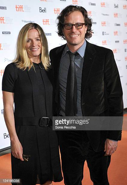Actress Elisabeth Shue and director Davis Guggenheim attend the Opening Night Party at Liberty Grand during the 2011 Toronto International Film...