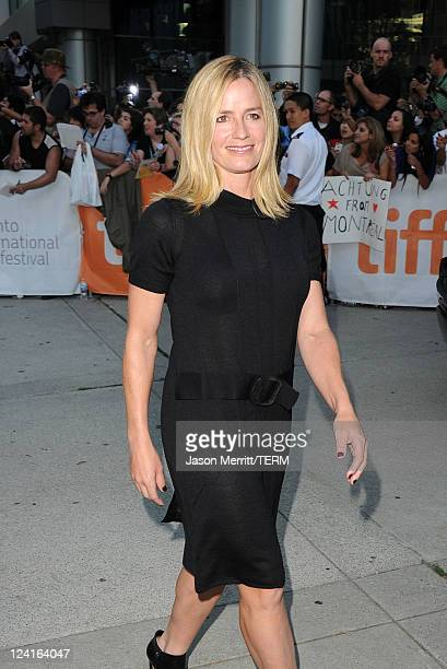Actress Elisabeth Shue arrives at From The Sky Down Premiere at Roy Thomson Hall during the 2011 Toronto International Film Festival on September 8...